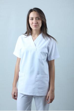 V Yaka Cerrahi Kesim Hemşire Forması Tek Üst