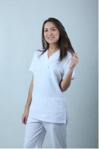 Dr Treys Cerrahi Kesim Hemşire Forması Tek Üst